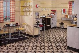 Retro Kitchen Design Ideas With Black Table And Yellow Chairs