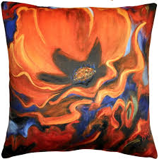 Orange Poppy 20x20 Throw Pillow from Pillow Décor