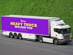 100 Free Truck Heavy Duty Transport Mockup DesignHooks