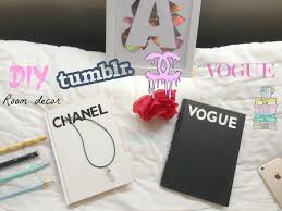 Faux Books For Decoration by Diy Room Decor Chanel Vogue Books Youtube