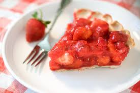 Download Strawberry Pie Slice stock image Image of portion horizontal
