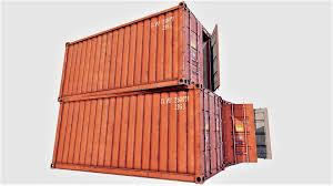 100 Shipping Container Model With Interior 01 3D
