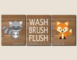 Primitive Outhouse Bathroom Decor by Bathroom Decor Kids Bathroom Art Woodland Animals Rustic