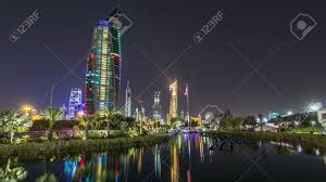 100 Where Is Kuwait City Located Music Fountains In Park With Cityscape Night Timelapse