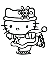 Christmas Coloring Pages Hello Kitty