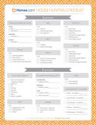 House Hunting Tips Checklist
