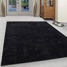 wohnzimmer teppich kurzflor modern einfarbig uni günstig versch farben