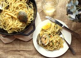 linguini with clams paired with vespa bianco recipe by joe