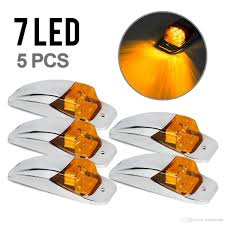 5xM27011Y Amber/Yellow 7 LED Chrome Upper Cab Marker Clearance ... 5pcslot Yellow Car Side Marker Light Truck Clearance Lights Cheap Rv Find Deals On Line 2008 F150 Leds Strobe All Around Youtube 1 Pcs 12v Waterproof Round Led And Trailer 212 Runningboredswithlights Ford F350 Running Board Trucklite 9057a Rectangular Signalstat Replacement Lens For Blazer Intertional 34 In Clearanceside Chevrolet Silverado 2500hd Questions Gm Roof Kit