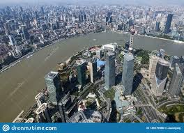 100 Birdview Of Shanghai City From Top Of Shanghai Tower Editorial Image
