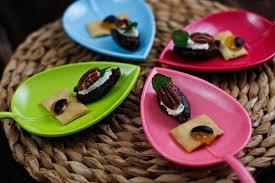gruß aus der küche dattel mit zitronen ingwer frischäse
