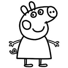 Character Name Chloe Daddy Pig Coloring Page From Peppa
