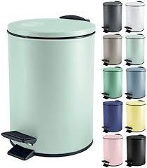 spirella kosmetikeimer 5 liter edelstahl mit absenkautomatik und inneneimer adelar badezimmer mülleimer softclose abfalleimer grün