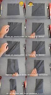 plier une serviette décorer une table porte couverts pliage