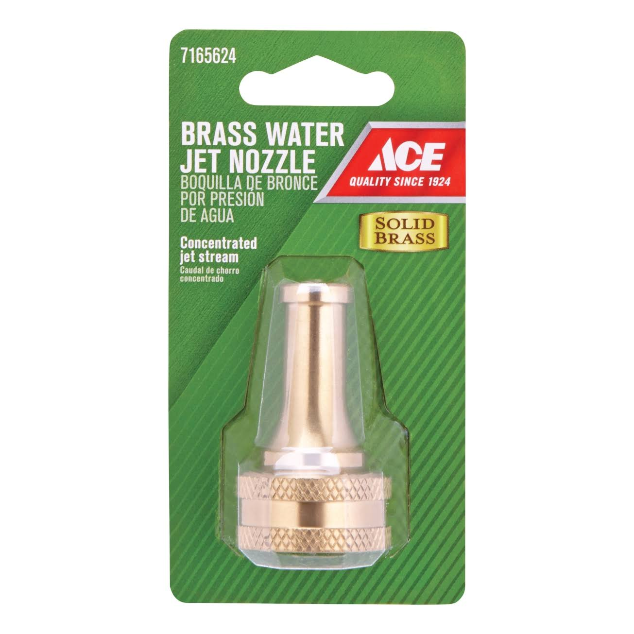 Ace Solid Brass Water Jet Hose Nozzle