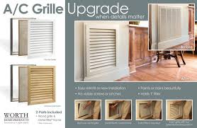 return air filter grille wood vents