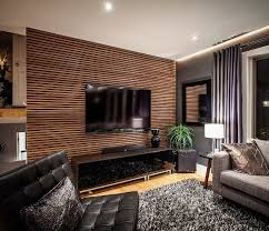 accent walls in living room modern house