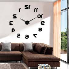 acryl fashion wanduhr diy nummer self adhesive interior für