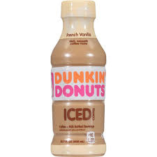 Dunkin Donuts Bottled Ice Coffee French Vanilla 13 7 Oz Bottles