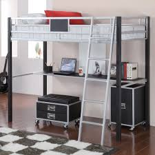 Coaster Computer Desk White by Coaster Leclair Twin Metal Loft Bed With Desk Black Silver