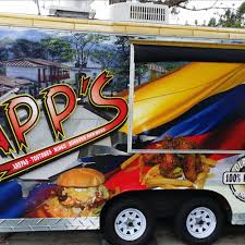 APP's Wings, Tostones & Burgers - Orlando Food Trucks - Roaming Hunger The Mayan Grill Food Truck And Windmere Family Night Revolution Is Being Held Back By Unnecessary Regulation Truck Wraps That Are Designed For Your Success Trucks Can You Get An Orlando Auto Glass Repair Bazaar In Dtown Avalon Park Ice Twister Presents Cream Make Your Own Red Eye Bbq Food Orlandos Premier On Wheels Philly Cnection Christens Prestige As Exclusive My Picks Some Of The Best Central Florida Kellys Homemade Roaming Hunger Best Arepas Mejores De Absofruitly