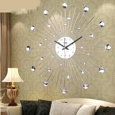 Big Wall Clocks Personalized Customization Diamante Home Decorative Large Clock Quartz Wrought Iron
