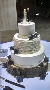 A Rustic Ruffle Wedding Cake In Buttercream It Had Tiny Bunches Of Lavender And Was