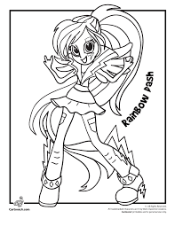 My Little Pony Coloring Pages Rainbow Dash Equestria Girls Many Interesting Cliparts