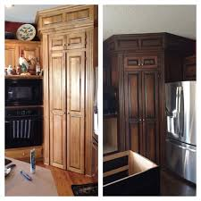 Gel Stain Cabinets Pinterest by Bathroom Cabinets Two Tone Java And Antique Walnut General