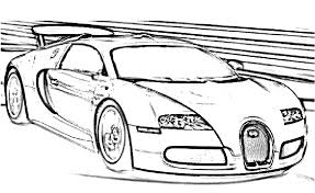 Veyron Sports Fast Car Coloring Pages Bugatti