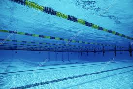 Underwater View Of Lanes In Swimming Pool Photo By Londondeposit