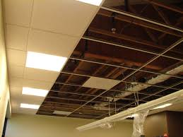 Exposed Basement Ceiling Lighting Ideas by Impressive Ceiling Design Ideas