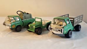 Tonka Toys Smokey The Bear Jeep & Fire & Stake Trucks Set 60's V ...