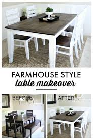 Kitchen Table Top Decorating Ideas by Best 25 Dining Table Makeover Ideas On Pinterest Redoing