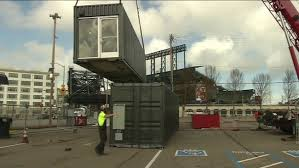 100 Shipping Containers San Francisco Giants Build The Yard Beer Garden With Refurbished