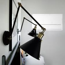 retro style wall mount light bed reading l adjustable arm
