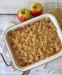 apple crumble apfelauflauf mit streuseln