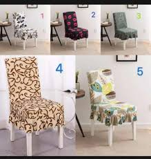 High Quality Fabric Sunflower Print Elastic, Knitted Dining Chair Cover  Restaurant Stool, Wrap