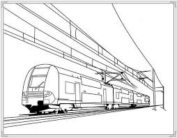 Electric Train Coloring Pages