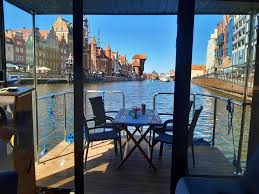 dom na wodzie hausboat gdansk town gdańsk wohnung gdansk