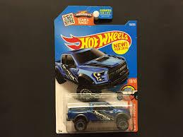 100 Hot Trucks Wheels 17 Ford F150 Raptor Blue HW 2016