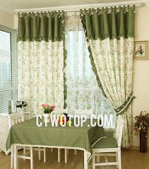 2014 best living room green little floral country curtains