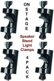 ON-STAGE LTA8770 4-Pack Non Marring Light Fixture Speaker Stand Clamps $5  Instant Coupon Use Promo Code: $5-OFF