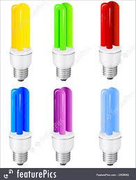 electrical objects power saving light bulbs stock illustration