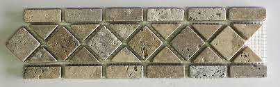 Scabos Travertine Floor Tile by Philly Scabos Travertine Classic Border 3