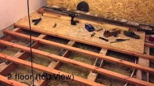 installing ceiling joists beams youtube