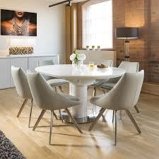 100 White Gloss Extending Dining Table And Chairs Room Round Furniture Washed Velvet Grey