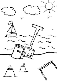 Downloads Online Coloring Page Beach 14 On Gallery Ideas With
