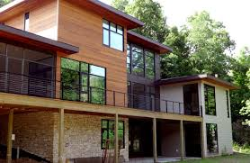 104 Contemporary Cedar Siding New Construction Modern Mix Of Cement Board Grand Rapids Roofing And Windows From Exteriors By Premier