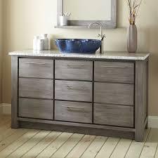 Single Sink Vanity With Makeup Table by Teak Vanities Bathroom Vanities Signature Hardware